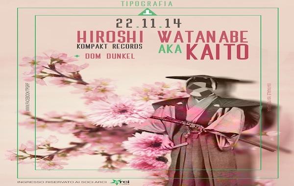 Hiroshi Watanabe alias Kaito (Kompakt) @ Tipografia, Pescara